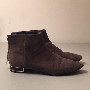 Zara dark taupe ankle bootie